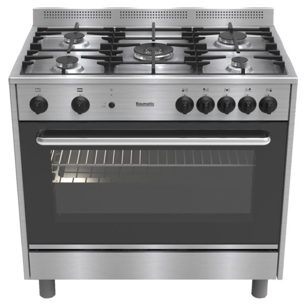 Gas Cooker in Stainless Steel