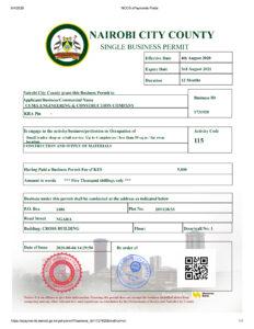 Nairobi City County Business Permit